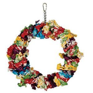 Caitec Paradise Large Cotton Snuggle Ring Bird Toy