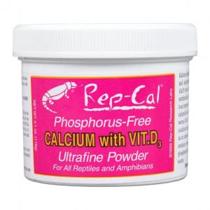 Rep-Cal Phosphorus-Free Reptile and Amphibian Calcium with Vitamin D Supplement