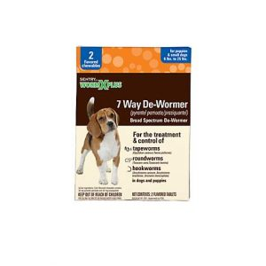 Sentry HC WormX Plus Flavored De-Wormer Chewables for Dogs, 2CT